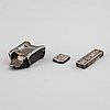 Three silver ingots, two of them chinese, total weight 238 gram.