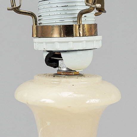 A pair of 20th century alabaster table lamp.