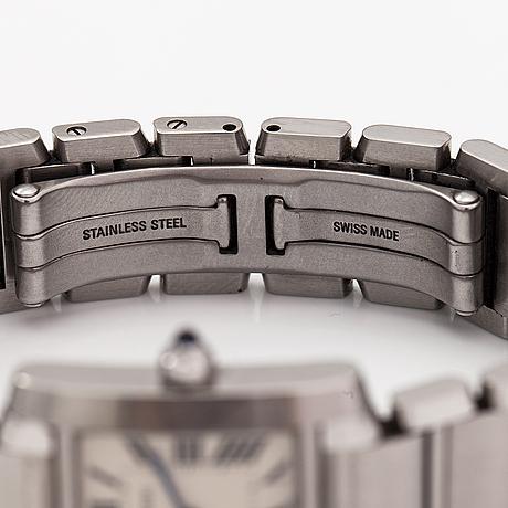 Cartier, tank francaise, wristwatch, 21 x 20 mm.