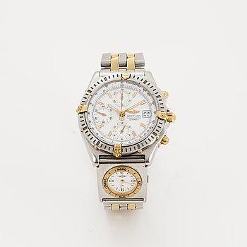 "Breitling, Chronomat, Chronometre, ""Tachymetre"", chronograph, wristwatch, 39 mm."