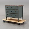 An early 20th century gustavian style chest of drawers.