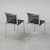 "A set of seven alberto meda ""416 high frame"" chairs for alias, italy."
