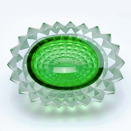 "Mårten medbo, a cut glass bowl, ""core"", ajeto glassworks, novy bor, czech republic, 2010, ed. 1/4."