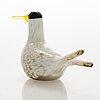 Oiva toikka, annual glass bird, signed o. toikka nuutajärvi 2000.