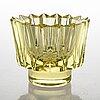 Aimo okkolin, a 'kruunu' crystal bowl signed aimo okkolin riihimäen lasi oy.