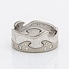 "Georg jensen ring 2 parts 18k whitegold ""fusion"" with brilliant-cut diamonds approx 0,15 ct."