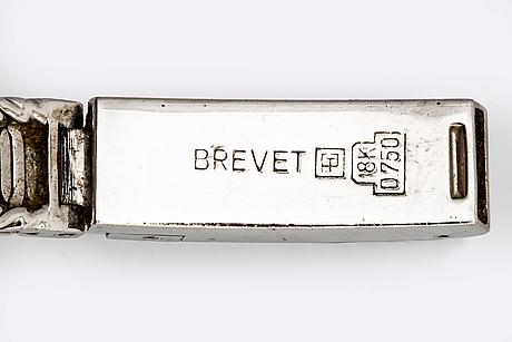 Wrietwatch belina, 18k whitegold 2 single-cut diamonds, 15 mm, manual.