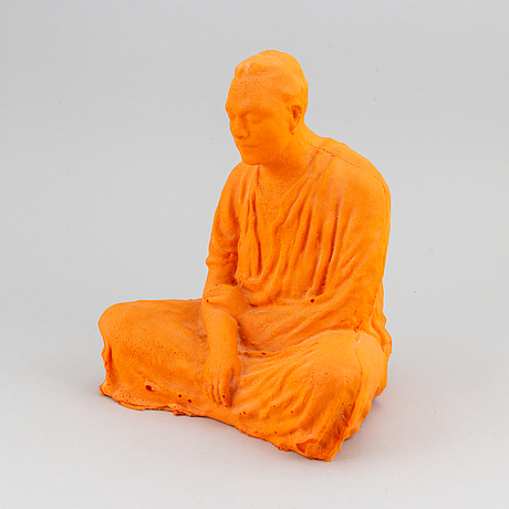 Fredrik wretman, scultpure, polyurethane, signed and dated 03.