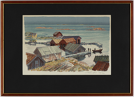 Roland svensson, lithograph in colours, signed 167/360.