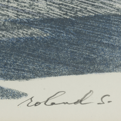 Roland svensson, lithograph in colours, signed 6/360.