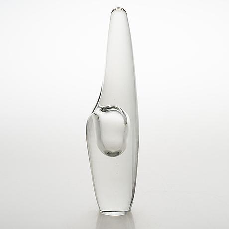 Timo sarpaneva, an 'orchid' glass sculpture signed timo sarpaneva iittala -57.