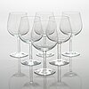 "Signe persson-melin, a set of 6 wine glasses ""bouquet"". kosta boda."