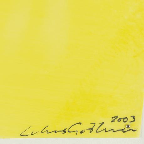 Lukas göthman, 4, acrylic on plastic, signed 2003.