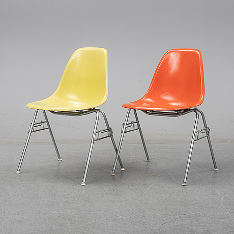 Charles and ray eames, a pair of 'dss' chairs for herman miller, second half of the 20th-century.