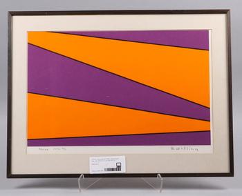 OLLE BAERTLING, färgseriegrafi, sign, dat 1972-73 o numr 85/100.