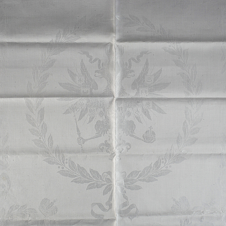 A linnen napkin, the grand duchess olga nikolaeva (the last tsar's oldest daughter's monogram).
