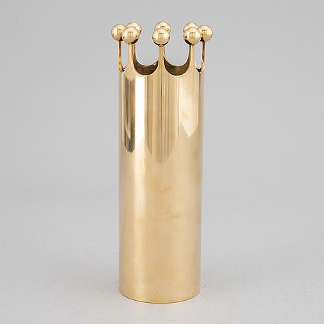 Pierre forssell, a brass vase, skultuna.