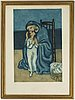 Pablo picasso, after, aquatint in colors, 1930, by jacques villon after pablo picasso.