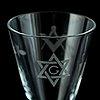 A set of six freemason glasses, 20th century.