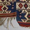 A carpet, a kilim, an antique anatolian, ca 310-326 x 183,5-192 cm.