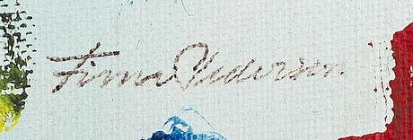 Finn pedersen, oil on panel signed.