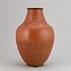 Erich & ingrid triller, a stoneware vase from tobo, signed.
