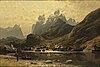 Adelsteen normann, oil on canvas, signed an dated düsseldorf 1881.