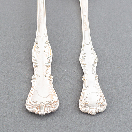 Cg hallberg, a part 'prins albert' silver cutlery, stockholm, 1947-48 (155 pieces).