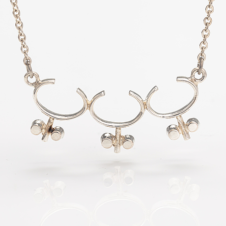 Jorma laine, a silver necklace. kultateollisuus, turku 1967.