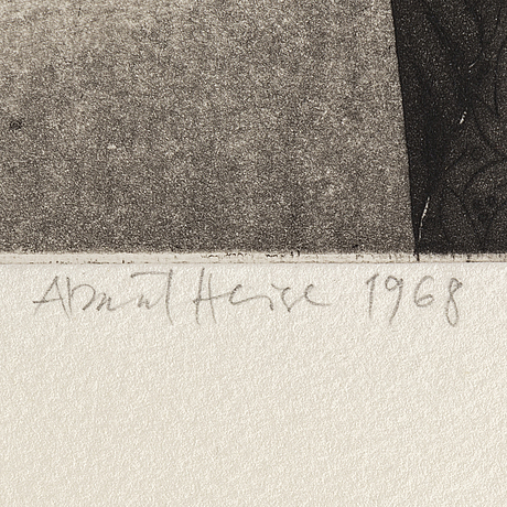 Almut heise, étching, signed, dated 1968.