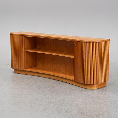 An elm veneered swedish modern sideboard, 1940's.