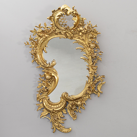 A late 19th century gilded mirror.