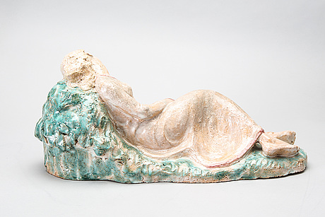 Ida schwetz lehmann, a ceramic sculpture, signed and and dated on label.
