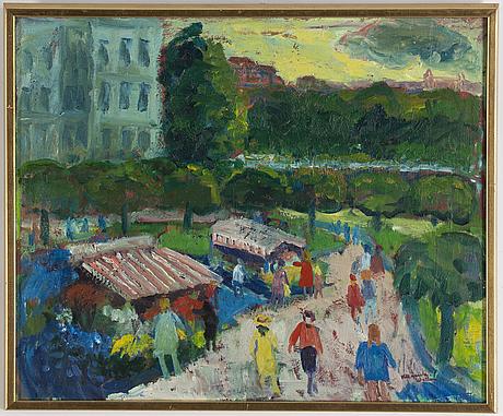 Margareta wallin, oil on canvas, signed.