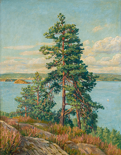 Thomas theodor heine, oil on panel, signed and dated 1942.