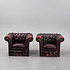 A pair of easy chairs, second half of the 20th century.