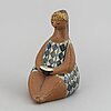 Lisa larson, a 'charlotta' stoneware figurine, from the series 'abc-flickorna', gustavsberg, in production 1958-1973.