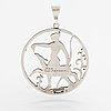 Tore strindberg, a silver pendant. sporrong, stockholm 1946.