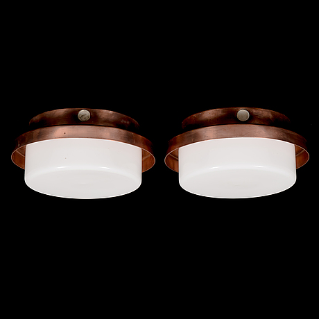 Lisa johansson-pape, two mid-20th century wall-/ceiling lights for stockmann orno.
