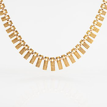 A 14K gold necklace. Westerback, 1968.