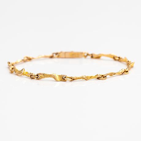 Björn weckström, a 14k gold bracelet. lapponia 1981.