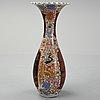 A large imari floor vase, japan, meiji.