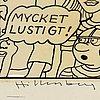 Lars hillersberg, ink on drawing canvas, signed hillersberg.