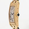 Cartier, tank americaine, wristwatch, 19 x 28 mm.