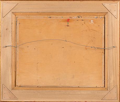 Olavi ahlgren, oil on panel, signed.