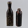 Carl-harry stålhane, two glazed stoneware vases, rörstrand ateljé.