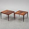 "A pair of 1960's/70's ""överste"" coffee tables by erik wörtz for ikea."