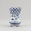 Royal copenhagen, three porcelian 'musselmalet full lace' pieces, denmark.