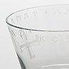 "Arttu brummer, skål, ""hjälteglaset i"", riihimäen lasi oy 1940-tal."