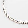 Brilliant-cut diamond tennis bracelet, with report w.g.i.